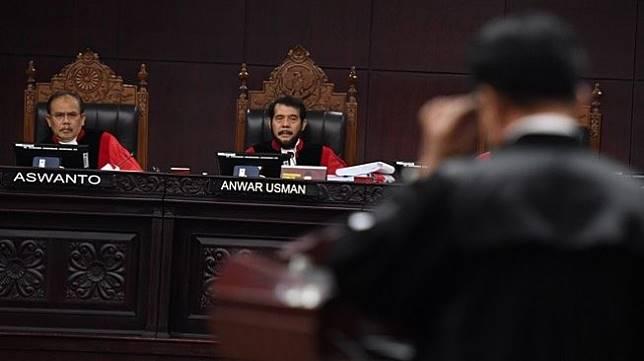 Sidang lanjutan sengketa Pilpres 2019 di Mahkamah Konstitusi, Selasa (18/6/2019). (Antara)