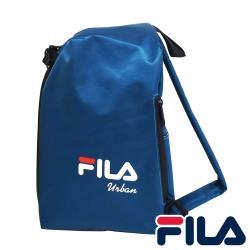 【FILA】三角立體單肩包/烏龜包-寶藍色
