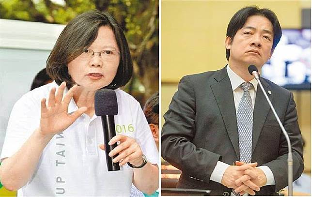 總統蔡英文(左)、前行政院長賴清德(右)。(圖/合成圖,本報資料照)