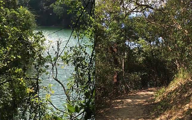 又稱「德羅塘」的九龍接收水塘,專門接收城門水塘的儲水,並輸送到石梨貝濾水廠作過濾。