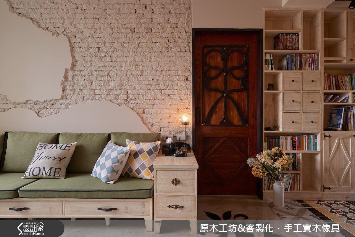 此案例為老屋翻新,刻意在牆面保留原樣,將原本的磚牆結構經過處裡後直接裸露,做為老屋靈魂的展現。