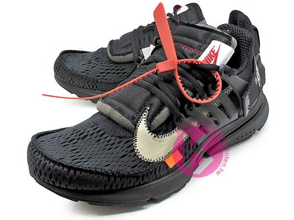2018 第二彈 高端時尚潮流 OFF-WHITE c/o Virgil Abloh x NIKE AIR PRESTO 全黑 黑 白勾 魚骨鞋 慢跑鞋 (AA3830-002) !