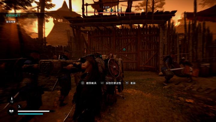 遊戲中也有攻城的場景,還能實際操作攻城車撞破城門。