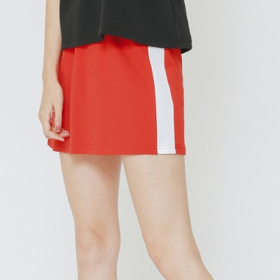 H:CONNECT 韓國品牌 女裝 - 側滾邊運動風短裙-紅(快)