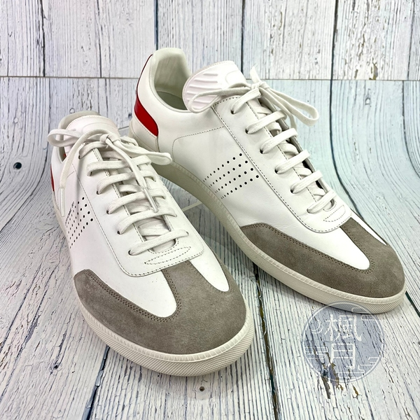 BRAND楓月 Christian Dior 迪奧 B01 灰麂皮鞋頭 紅鞋尾 蜜蜂圖樣 白鞋 休閒鞋 男版 #43
