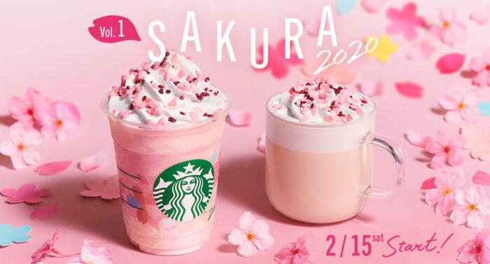 日本星巴克櫻花系列第1彈_櫻花牛奶布丁星冰樂_櫻花牛奶拿鐵