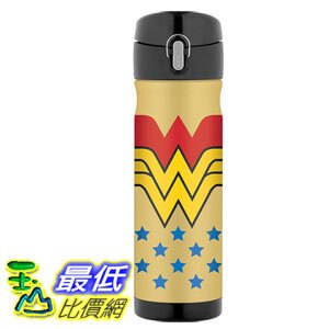 [106美國直購] Thermos Wonder Woman 神力女超人 16 Ounce 不鏽鋼保溫運動水壺