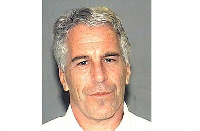 This undated handout photo obtained July 8, 2019, courtesy of the Palm Beach County Sheriff's Departmant shows Jeffrey Epstein.Epstein, who was 66, hanged himself in Manhattan's Metropolitan Correctional Center in August 2019 while awaiting trial on charges of trafficking minors for sex. He had pleaded not guilty.