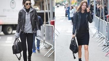 模特兒們私下的隨興穿搭 化身成為率性的街拍女孩