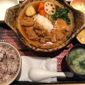 チキンかあさん煮定食 - 実際訪問したユーザーが直接撮影して投稿した新宿定食屋大戸屋 新宿東口中央通り店の写真のメニュー情報
