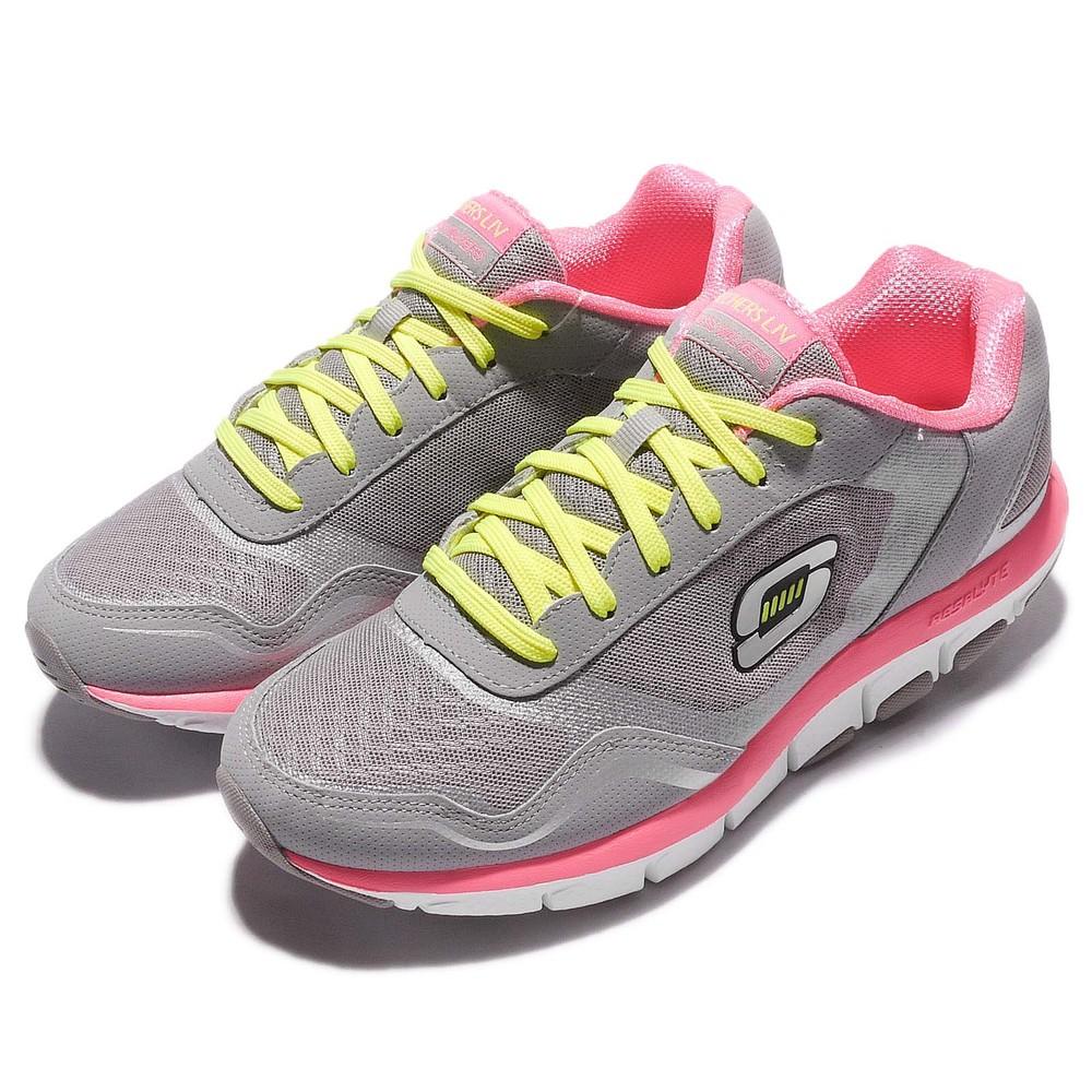 輕量慢跑鞋品牌:SKECHERS型號:57051GYPK品名:Liv-High Line配色:灰色,粉紅色