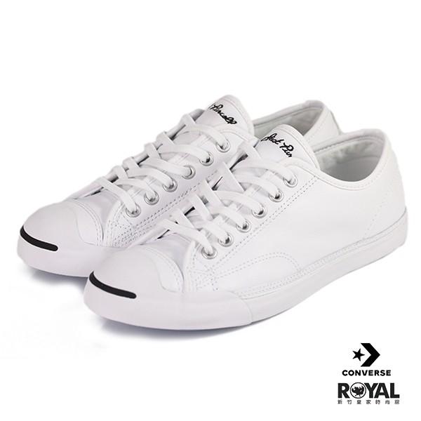 CONVERSE 新竹皇家 Jack Purcell Leather 白色 皮質 休閒鞋 女款 NO.I8024