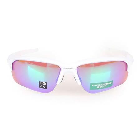 OAKLEY FLAK DRAFT 一般太陽眼鏡-附硬盒鼻墊 抗UV 白銀 F