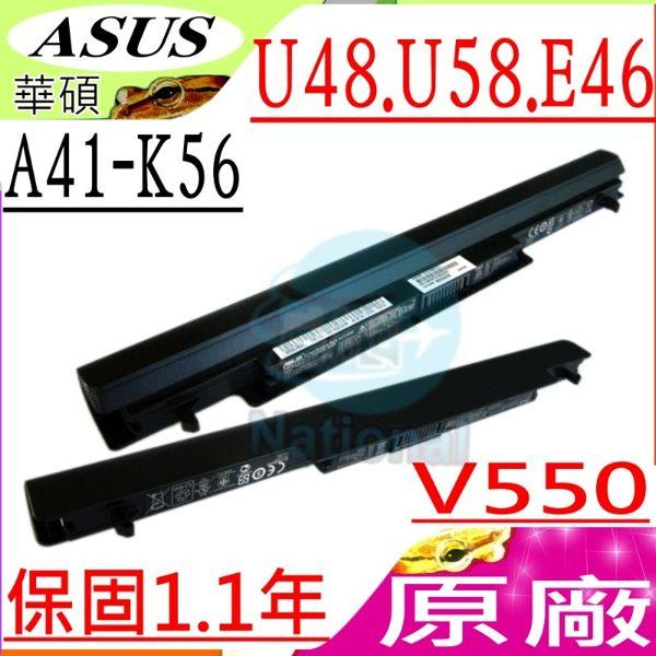 ASUS 電池(原廠)-華碩 電池- U48,U58,E46,E46CM,V550,U48CA,U48CM,U58CA,A41-K56,A32-K56