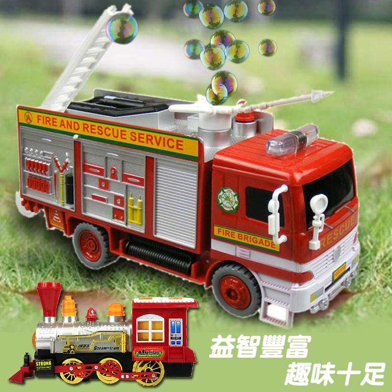 給孩子的最佳聖誕節禮物!一流做工逼真的消防車和火車的造型玩具車,閃爍著燈光伴隨著音效行走間,還會一邊冒出夢幻泡泡喔~遇到障礙物時車子也會自動退後修正路徑,豐富趣味的益智玩具訓練孩子們手眼協調、創意想像