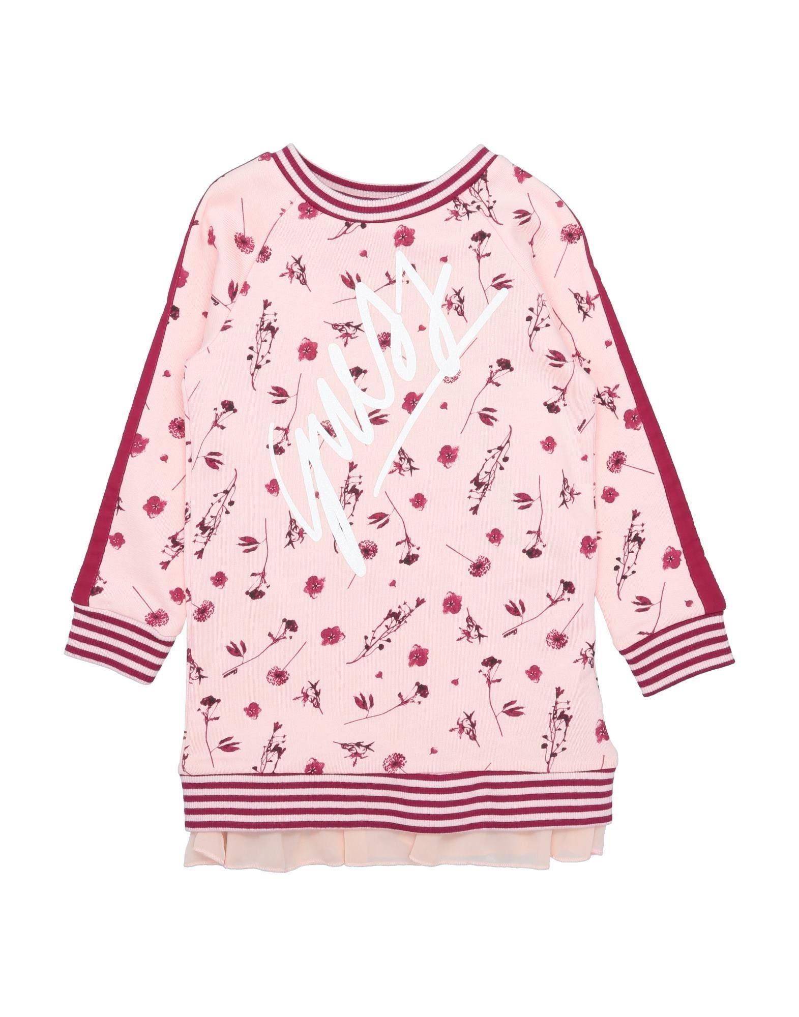 crepe, sweatshirt fleece, side seam stripes, logo, floral design, round collar, long sleeves, french