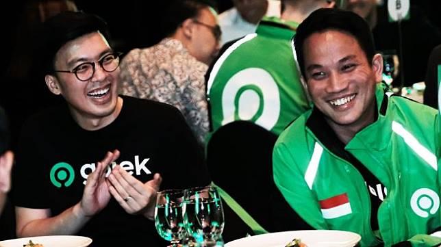 Co-CEO Gojek Kevin Aluwi dan Andre Soelistyo. [Dok Gojek]