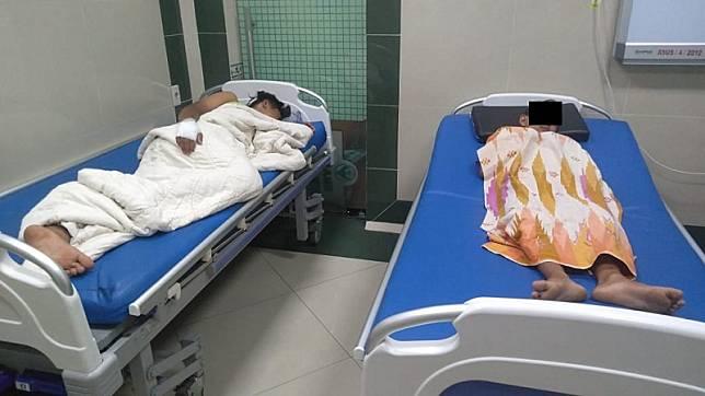Anak Herlina Efendi saat menjalani perawatan di RS Sembiring, Delitua, Kamis (9/7/2020). (Foto: Istimewa)