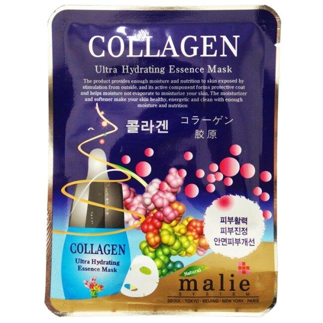 malie 膠原蛋白保濕彈性面膜10入-膠原蛋白 25g