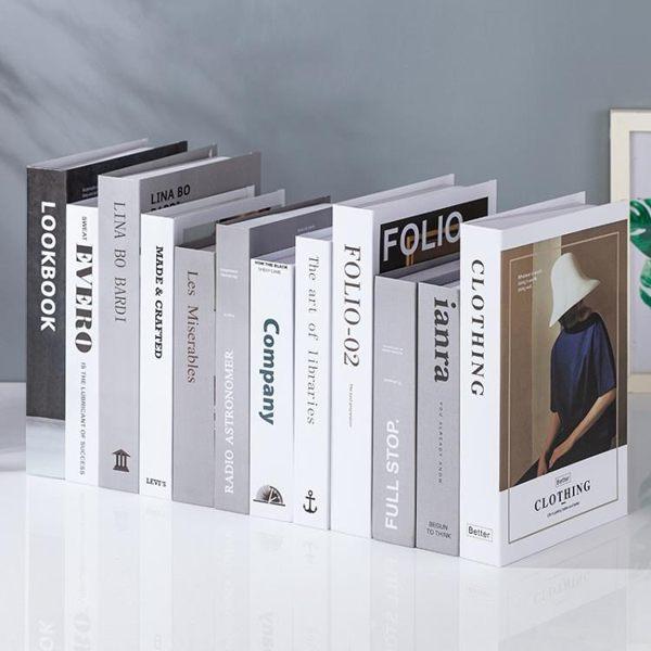 假書 簡約現代北歐風格假書仿真書裝飾品道具擺設模型創意客廳書柜擺件