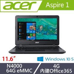 1.25kg輕薄小筆電 讓你隨身帶著走~ ◎輕薄自用、旅行攜帶 ◎商品名稱:Acer宏碁Aspire1小筆電A111-31-C5HH11.6吋/N4000/4G/64GeMMC黑品牌:Acer宏碁系列