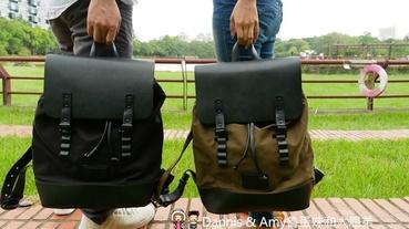 《時尚配件-後背包推薦》北歐設計瑞典品牌Gaston Luga Pråper橄欖綠/經典黑包款評價。文末折扣優惠碼分享︱(影片)