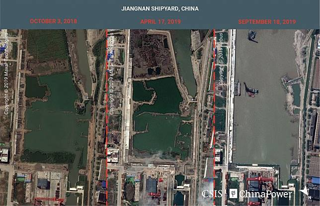 Satellite images show China is expanding shipyard 'to build more aircraft carriers'