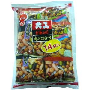 日本原裝進口 日式精緻風味口感 14小包裝,攜帶食用好便利 內有多種口味,豐富多變 每口都是新奇好滋味