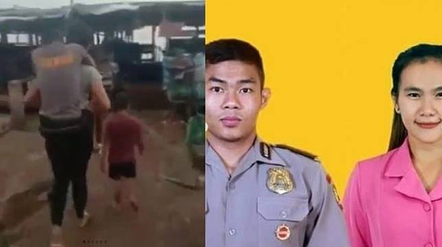 Perjuangan istri polisi gendong suaminya yang lumpuh. (Instagram/@divisihumaspolri)