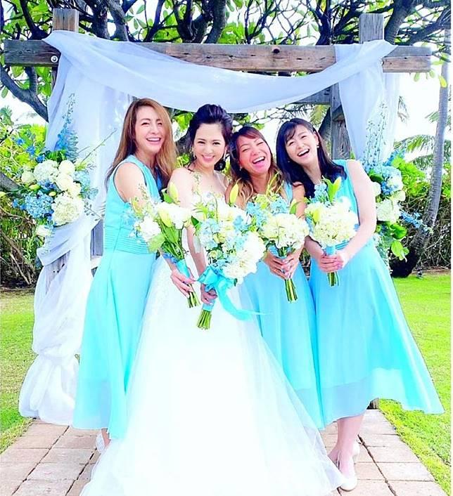 好姊妹飛到夏威夷為婚擔任伴娘。