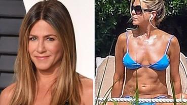 驚人!珍妮佛安妮斯頓「比基尼秀腹肌」 49歲身材竟如此完美!
