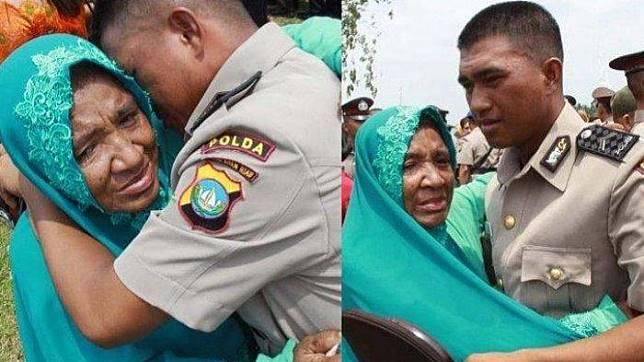 Peluk Haru Ibunya, M Ikram Anak Pemulung Sukses Jadi Polisi: Saya Bukti Masuk Polisi Tak Pakai Uang