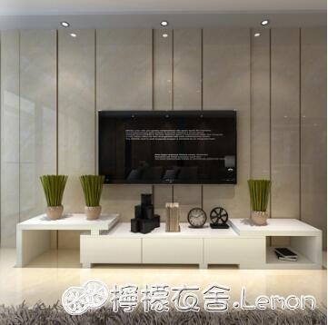 電視櫃茶幾電視櫃組合 現代簡約客廳小戶型宜家鋼化玻璃面經濟型網紅