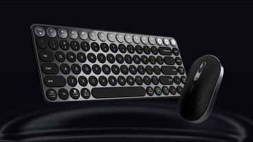 米物精英系列藍牙雙模鍵鼠套裝 眾籌推出:鍵盤支援語音輸入、滑鼠支援升降調整