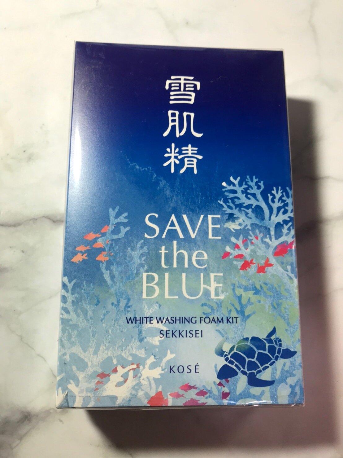 【KOSE 高絲】雪肌精 淨透洗顏霜 Save the Blue 珍愛海洋版(淨透洗顏霜130g+藥用雪肌精24ml)