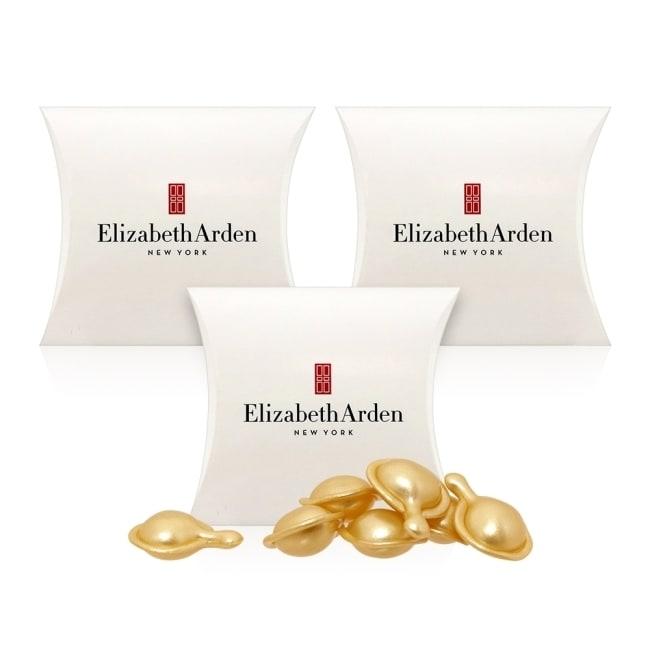 預計出貨日2-5天 Elizabeth Arden 雅頓 超進化黃金導航膠囊 品牌經典熱銷推薦 超進化黃金導航膠囊內含輕盈絲滑的精華純液, 是一款革命性創新升級的逆齡保養品, 有助提供保濕潤澤、集中修