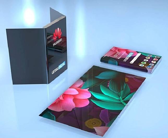 Huawei dilaporkan mematenkan desain baru ponsel lipat. (letsgodigital.com)