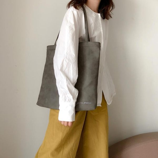 托特拉鏈麂皮單肩包 大容量軟皮休閒女包