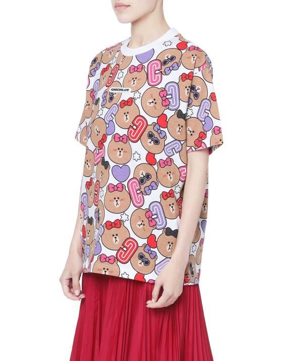 LOGO膠章印花T恤($259)佈滿了CHOCO大頭。