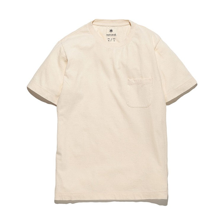 Snow Peak 有機棉T恤-淡褐色 灰色 海軍藍