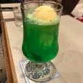 クリームソーダ - 実際訪問したユーザーが直接撮影して投稿した新宿カフェらんぶるの写真のメニュー情報