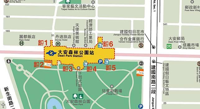▲台北捷運出口超亂?編號其實有原則:以「逆時針」排列。(圖/翻攝自台北捷運官網)