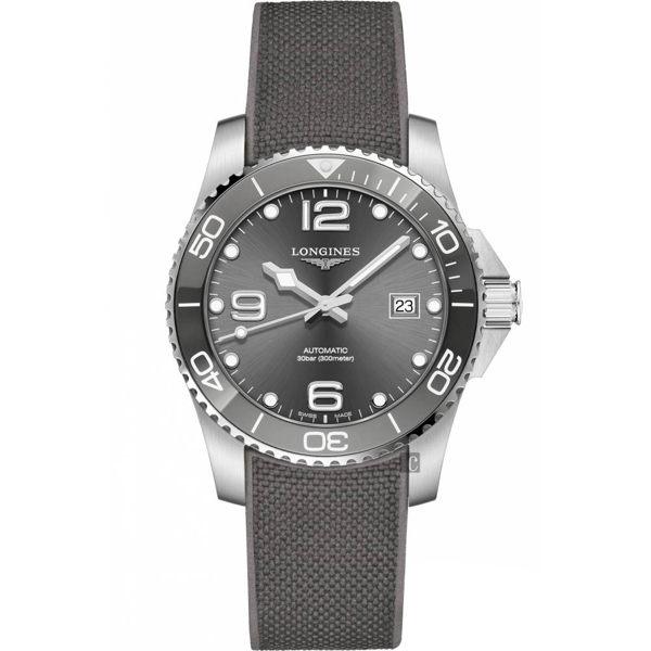 原廠公司貨.瑞士製 深海征服者系列,防水300米 陶瓷錶圈,保護式安全錶冠 料號:L37824769
