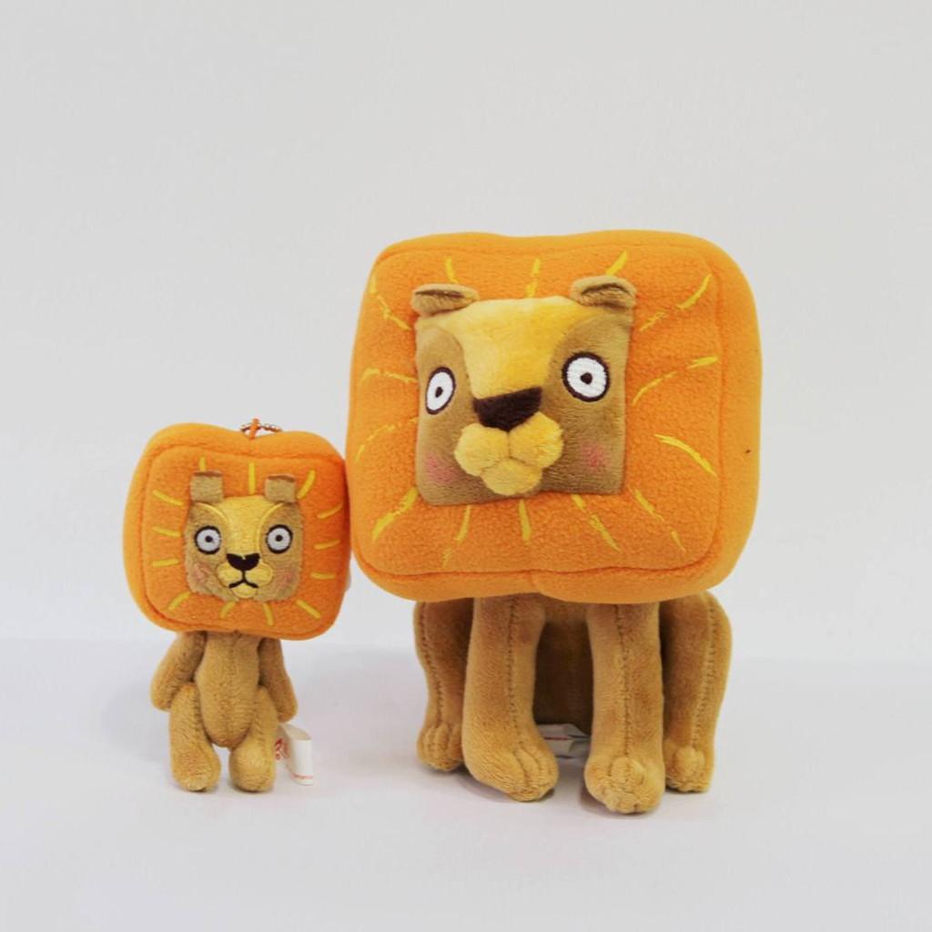 米各說方頭獅玩偶+吊飾組合(一大一小)偶像劇我可能不會愛你李大仁送程又青的禮物