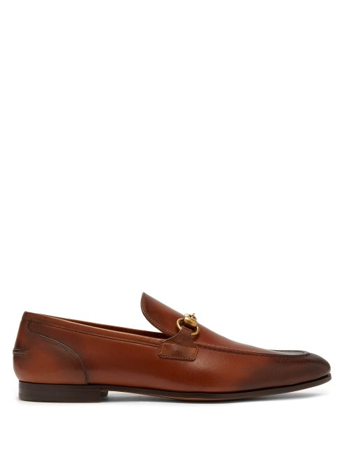 Gucci - Gucci's tan Jordan loafers are Italian-crafted from leather that's hand-stained to achieve i