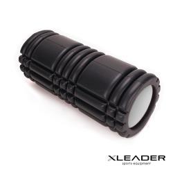 Leader X 環保EVA專業舒展塑身按摩瑜珈滾筒 滾輪 瑜珈柱 黑色