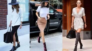 秋冬必備!三種搭配裙裝的無敵靴款 你都有了嗎