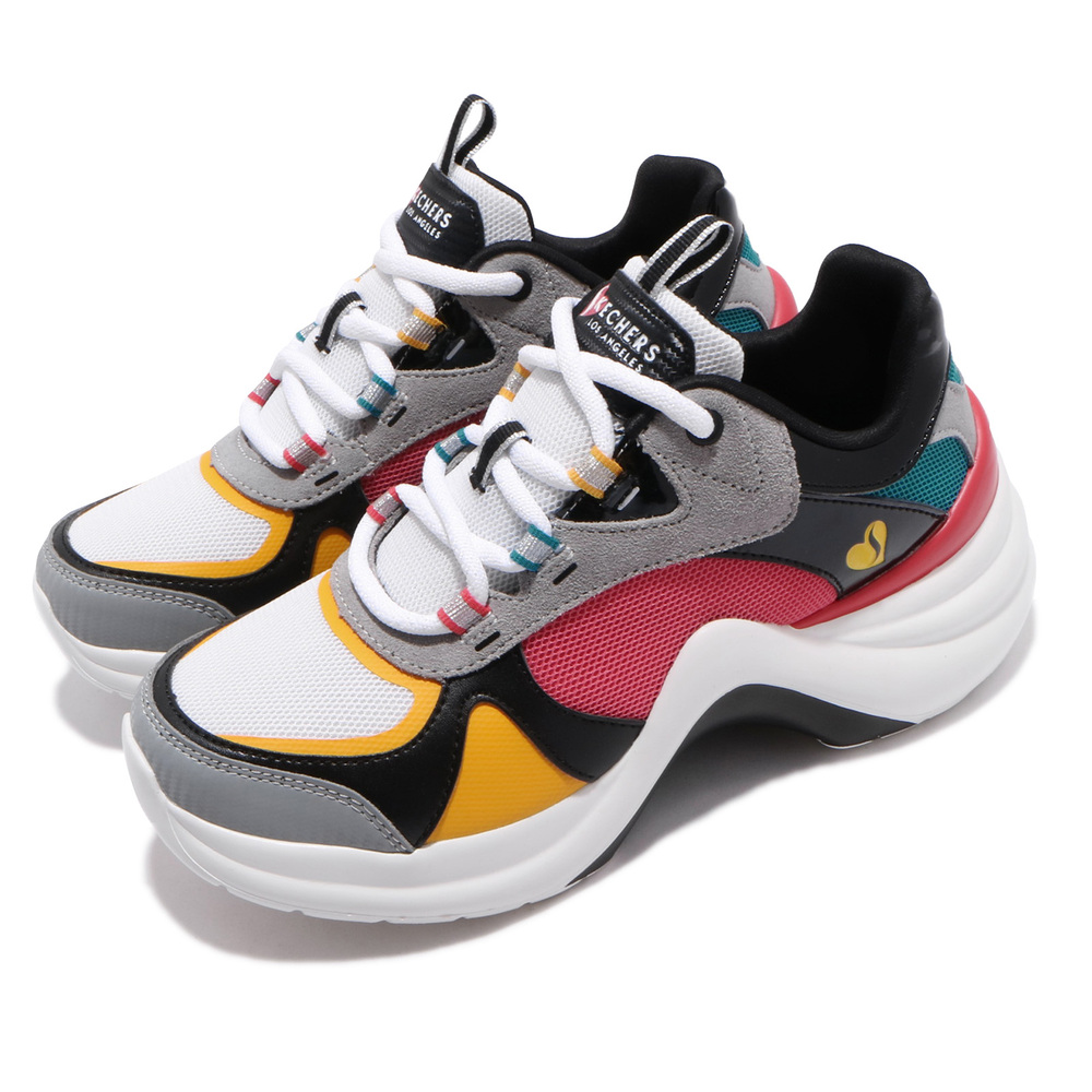 SKECHERS 休閒鞋 Solei ST-Grooy Sole 女鞋 老爹鞋 增高 記憶鞋墊 修飾腿型 輕量 彩 [74190WMLT]
