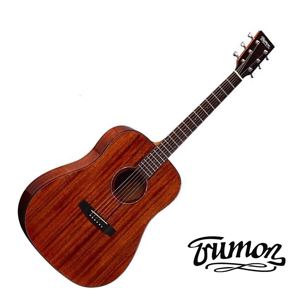 Trumon 楚門吉他 40吋 D-50 全桃花心木 面背單民謠吉他 木吉他 D50 -【黃石樂器】