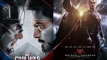 帶來觀眾愛看的超級英雄對決,漫威和DC 之爭也越演越烈